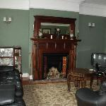 A quiet and beautiful parlor; great place for tea and reading.