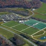 Aerial view of the Smith River Sports Complex