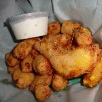 Cheese Curds and Ranch!  YUM!