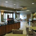 Breakfast area - lots of room, lots of great choices (except avoid the eggs)