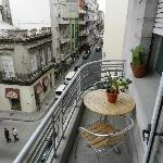 The Mascara Room balcony faces north towards the Colonial Square, the Cathedral and the Port and