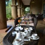 Tea with fresh hot scones at Huntingdon House