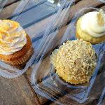 """Left- Gluten free """"Orange Dreamsicle"""".  Right- """"Ginger Pear"""" in back, and """"Toasted Almond"""" in fr"""
