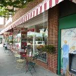 Front of soda shop