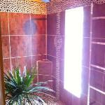 Shower in a garden environment