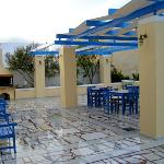 Outdoor dining/patio space at Laokasti