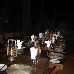 Dinner area at night