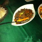 vegetable dried rice - beef with oyster sauce and shrimp with cashew