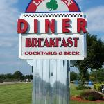 Road sign for diner
