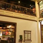 View of the two floors of Starbucks