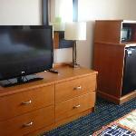 Large tv, fridge, microwave in Executive Room