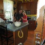 Ali and Marin in the kitchen at the Pines