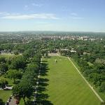 View from the 18th floor of lawn in front of Capitol, Bismark and surrounding area
