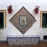 decors de mozaique dans le village