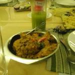 A spicy chicken dish