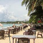 disposizione dei tavoli sulla spiaggia del ristorante Tartaruga