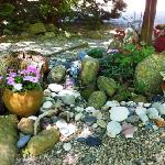leave a shell or pretty beach stone in this little memory garden