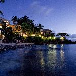 shoreline at night