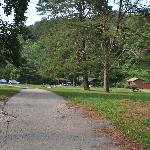 road entering campground