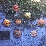 Lovely wall with suns