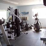 Fitness center at Riverview Resort