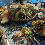 A picture of the home-cooked food of the riad. So yummy!