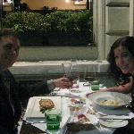 Dining outside at Appiano