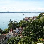View to Meersburg and Lake Constance from balcony