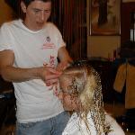 camilla ved frisøren