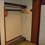 Ski storage area in the room