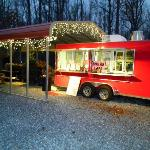 Shore Beef & BBQ decorated for the Holiday!!!!!