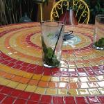 my yummy mojito on mosaic hand crafted table