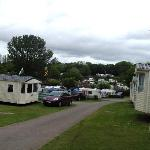 The view towards the camping field
