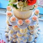 Beach Wedding Cupakes Tower