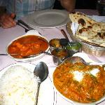 Butter Chicken/Vegetable Madras/ Naan/ Basmati Rice