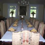 Exquisite dining room used for bed and breakfast guests