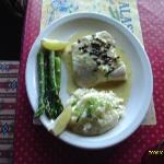 A plate of Halibut and Capers