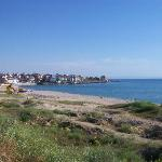The beach closest to the hotel. The new part of Sozopol in the background