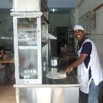 Ravi makes each roti fresh