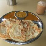 Roti (kosong) with Teh Tarik