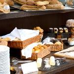 Selection of French bread and pastries