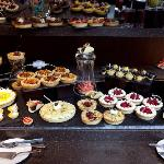 Selection of French tarts and desserts