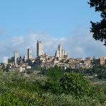 View on San Gimignano from Guardastelle