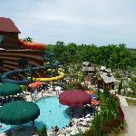 Outdoor pool/waterpark area