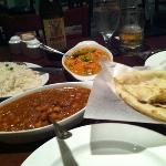 lovely nan and other yummy dishes along with indian