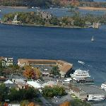 Downtown Alexandria Bay Over Looking Boldt Castle.