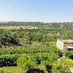 Vanaf het hotel richting Perugia