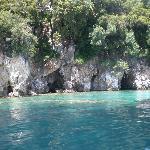 Beautiful scenery seen from Spiro's boat