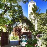 in the garden of Antica Toscana