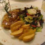 Yummy, Hawaii chicken (chicken, pineapple, bbq sauce)